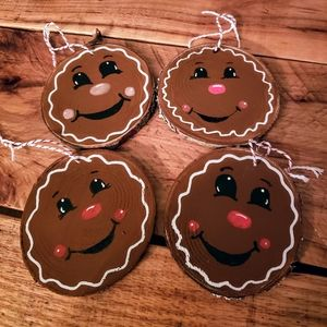 Gingerbread Wood Ornaments